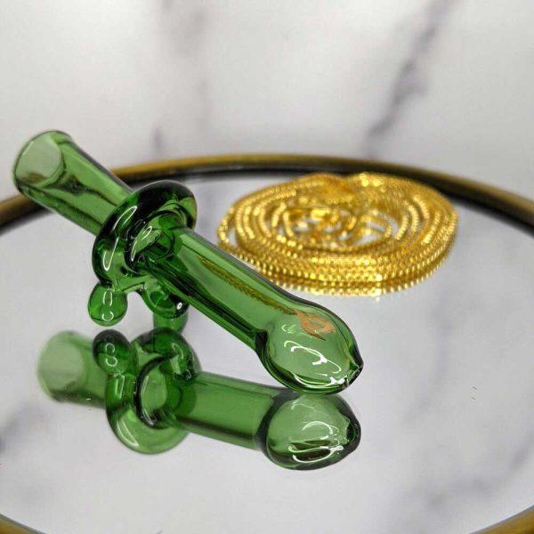 JTT Ganja Green glass blunt holder